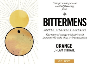 BITTERMENS ORANGE CREAM BITTERS